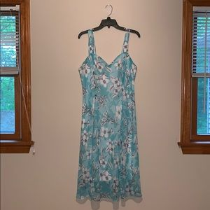 DressBarn Green Floral Summer Dress Size 16W